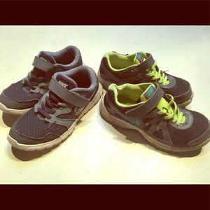 2 pairs of boys Nike sneakers
